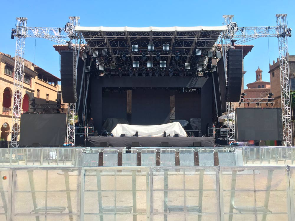 escenario nicky jam barcelona